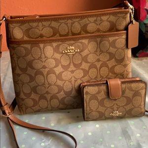 Coach crossbody bag and Wallet